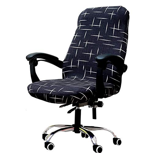 Melanovo Computer Office Chair Covers, Universal Stretch Desk Chair Cover for Rotating High Back...