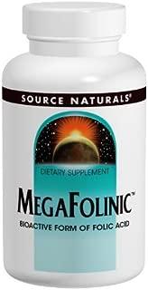 Source Naturals MegaFolinic 800mcg - 60 Tablets