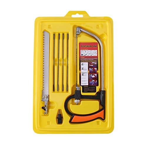 Sierra multifunción, hoja de sierra de arco, sierra manual multifunción para el hogar Juego de sierra para carpintería para cortar madera/aluminio/vidrio 12.59 * 8.26'