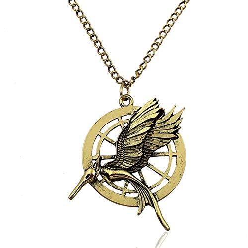 Collar De Juegos del Hambre Pájaro Fénix Águila Animal Logo Colgante Vintage Película Caliente Joyería para Hombres Mujeres Niños