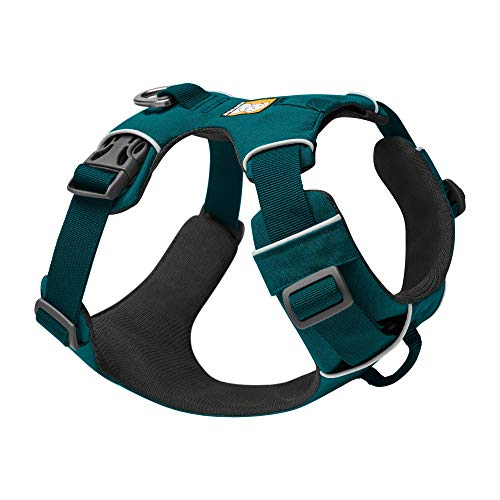 RUFFWEAR, Front Range Dog Harness, Reflective and Padded Harness for Training and Everyday, Tumalo Teal, Medium