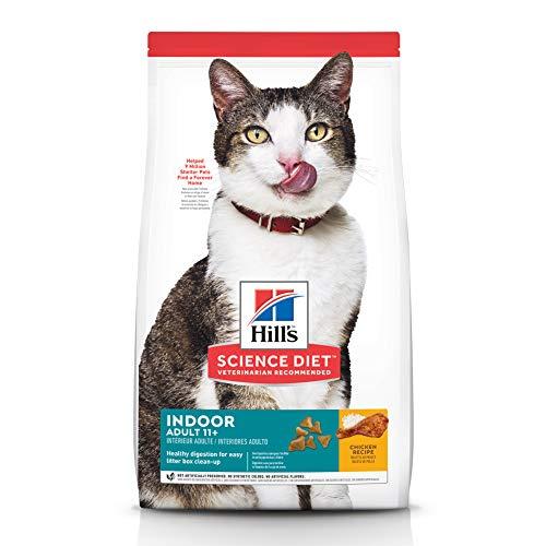 Hills Science Diet Dry Cat Food, Adult 11+, Indoor, Chicken Recipe, 3.5 lb Bag