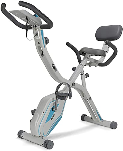 Premium Folding Exercise Bike 2-in-1 Upright & Recumbent Options with 8 Resistance Levels, Folds away – ideal Home Gym Workout Stationary Cycle Bike with 2 Years Warranty