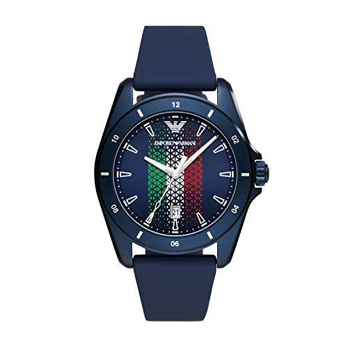 orologio sigma Emporio Armani Sigma- Orologio analogico al quarzo da uomo con cinturino in silicone blu