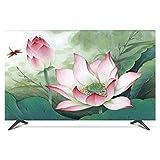 HBLZG TV- Funda Protectora Funda Protectora de Tela de poliéster Suave Resistente al Agua y al Polvo para TV de Pantalla Plana, Smart TV, TV de Plasma (Color : D, Size : 32 Inch)