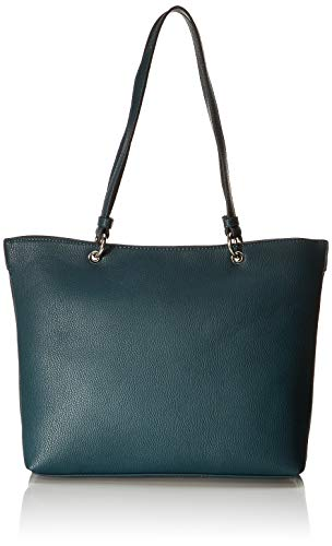 TOM TAILOR Shopper Damen, Effie, Grün (Petrol), 30x26x12 cm, TOM TAILOR Schultertasche, Handtaschen Damen