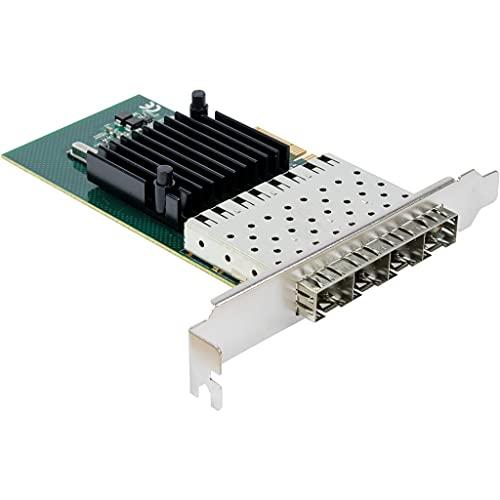 Adaptador PCIe x4 Quad Gigabit ST-7212 SFP 4X SFP - 10/100/1000 Intel i350