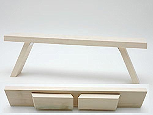 Schwibbooghouder van hout met lichtboogkap, vensterbank 40 x 7 x 11,5 cm, met inklapbare poten