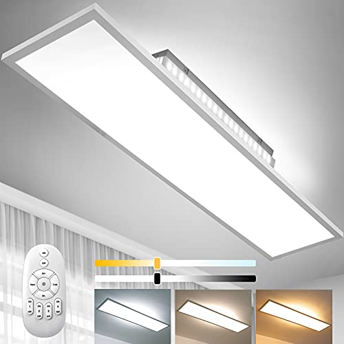 Dimmbar LED Deckenleuchte 120x30 cm...