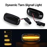 Luz de señalización dinámica de giro OZ-LAMPE Indicador lateral de giro Indicadores laterales de flujo Humo para Lan-d Rove-r Discovery 2 Defender Freelander 1