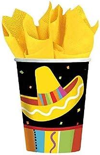 Amscan Fiesta Fun Cinco de Mayo Party Paper Cups (8 Piece), Multi Color