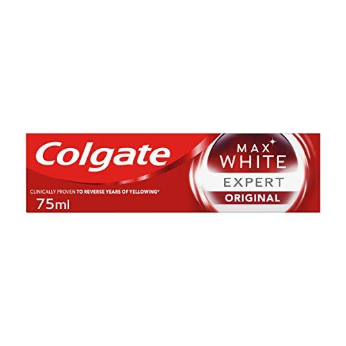 Colgate Tandkräm Max Expert White Cool Mint, Blekande Tandkräm med Professionellt Utformad Whitening-Formula – 75ml
