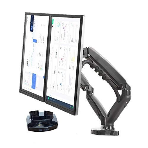 zhipeng Soporte de TV Gas Spring Desktop 17 27 Doual Monitor Soporte Brazos, con 2 Soportes de Montaje de Monitor USB3.0, Cada Soporte de Carga 29 kg (Color: F160N sin USB) hsvbkwm