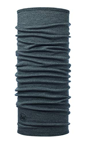 Buff Midweight Merino Wool Multifunktionstuch, Grey Melange, one Size