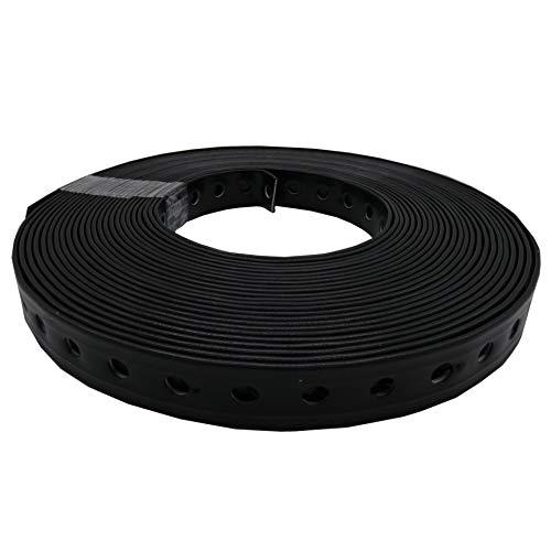 5 Stück Montagelochband, Lochband 19mm x 10m, kunststoffummantelt, schwarz
