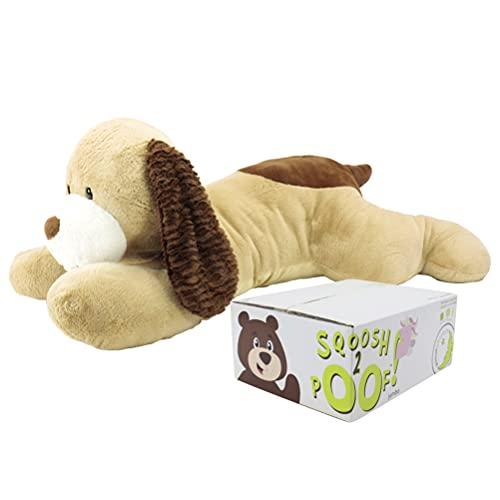 Animal Adventure | Sqoosh2Poof | Jumbo Plush Character Compressed Inside Small Box | 44' Dog