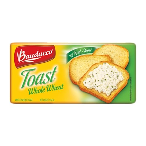 Bauducco Whole Wheat Toast - 5.64 oz   Torrada Integral Bauducco - 160g - (PACK OF 04)