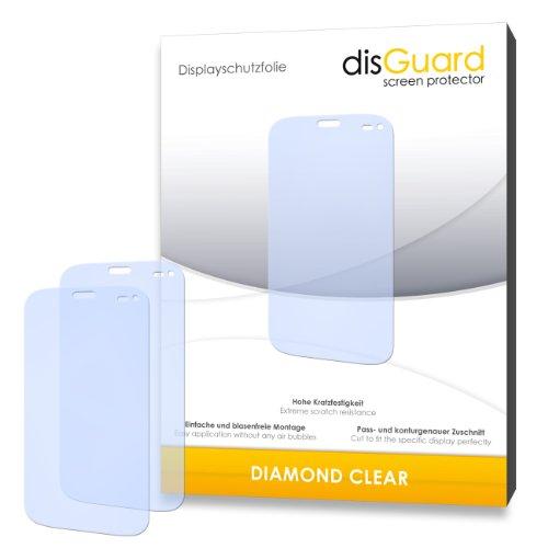 disGuard 2 x Bildschirmschutzfolie Wiko Darkmoon Schutzfolie Folie DiamondClear unsichtbar