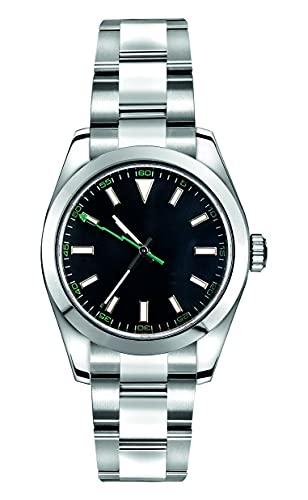 Collectors Club TW1012 Reloj automático de pulsera de acero inoxidable 316L Miyota cristal de zafiro, 5 bar, resistente al agua