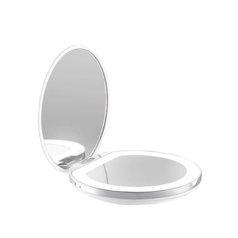 燃やす天井マティス手鏡 両面鏡 ライト付きミラー 女優ミラー 3倍拡大鏡付き お姫様 ミラー おしゃれ 卓上 LEDライト 化粧鏡 コンパクト 折り畳み式 スタンドミラー 角度調整