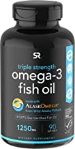Omega 3 Fish Oil from Wild Alaska Pollock (1250mg per Capsule) with Triglyceride EPA & DHA   Heart, Brain & Joint Support   IFOS 5 Star Certified, Non-GMO & Gluten Free (90 Softgels)