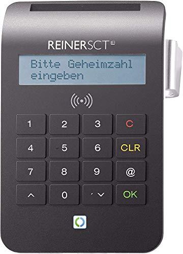 REINER SCT cyberJack RFID Chip-Kartenlesegerät komfort | Multi-Applikationsfähig für z.B. Elster; Online-Banking; Personalausweis)