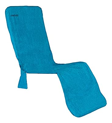 """MEDÜZA Bamboo Fiber Deluxe Lounge Chair Beach Towel URBANIA - Designed Gravity Zero Type Long Chair Cover Soft, Breathable & Quick to Dry - Molds & Fungi - 21.5"""" x 70""""/54.61 cm x 177.8 cm"""