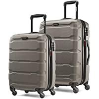 2-Piece Samsonite Omni PC Hardside Expandable Luggage With Spinner Wheels (Silver)
