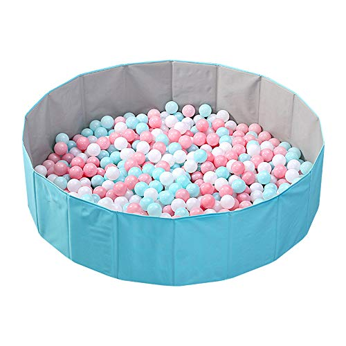 OMNISAFE Upgraded Kids Ball Pit Folding Portable Balls Pool Baby Playpen Play Game Fence for Indoor Outdoor 51Inch Oversized Blue