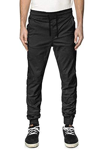 Globe GB01436007 Pantalones, Hombre, Negro-Negro, 34 [DE 32]