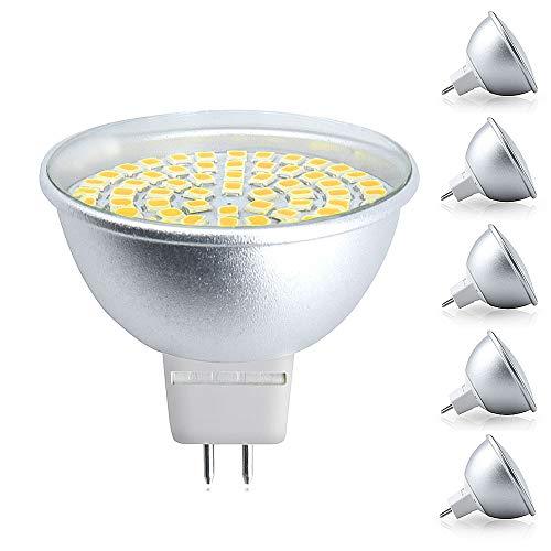 Bonlux GU5.3 MR16 LED Lampe 5W AC220-240V Reflektor Spotlicht Warmweiß 3000K 120 Grad als Ersatz für 50W Halogenbirne/Halogenglühlampe (5-Stück, Nicht Dimmbar)
