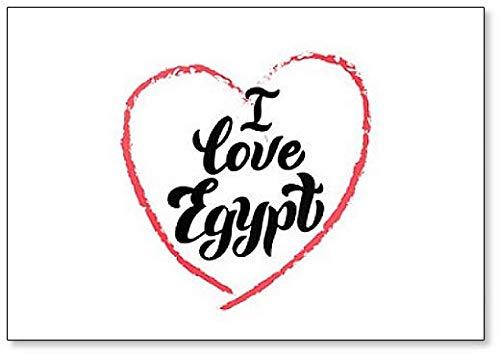 Ik hou van Egypte Typografie Lettering Koelkast Magneet