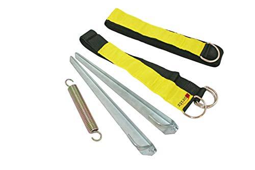 Moritz Original Fluo Sturmband 12,50 m Sturmsicherung Spannband für Vorzelt Vordach Dachhalteband Tent Safe Kit
