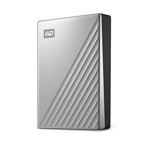 WD 4 TB My Passport Ultra disco duro portátil con protección con contraseña y software de copia de seguridad automática, Compatible con PC, Xbox y PS4, color Plata