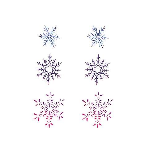 Autocollants temporaires de tatouage de corps de flocon de neige coloré de 5 feuilles pour la partie de costume de Cosplay