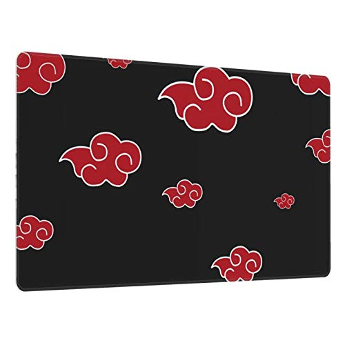Anime Mouse Pad Akatsuki Large Gaming Mouse Pad Non-Slip Rubber Base with Stitched Edges for PC Computer Laptops 29.5 X 15.8 Inch