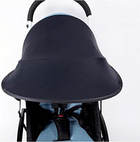 Topwon Universal Stroller Canopy Extender Sun Shade/Rayshade/Stroller Cover (Black)