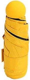 Umbrella Windproof Umbrella Folding Sun Female Sun Protection UV Protection Compact Portable One Hand (Color : Yellow)