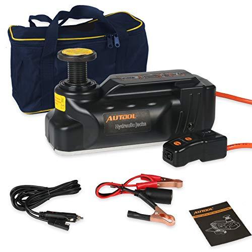 Autool Gato Coche hidraulico 3Ton electrico Jack 12v Control Remoto,Profesional Gato hidraulico...