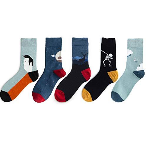 5 Pares/Paquete Streetwear Mujer Calcetines Algodón Crew Designer Calcetines Mujer Unisex Tamaño 37-44 Size37-44 0721272931