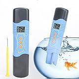 Medidor de PH Medidor de PH / ORP / TEMP Pantalla LCD impermeable a prueba de humedad completamente sellada para acuario