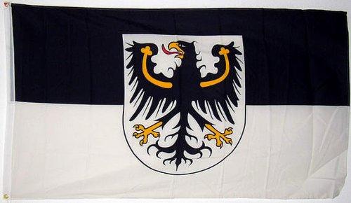 Qualitäts Fahne Flagge Ostpreußen 90 x 150 cm mit verstärktem Hissband