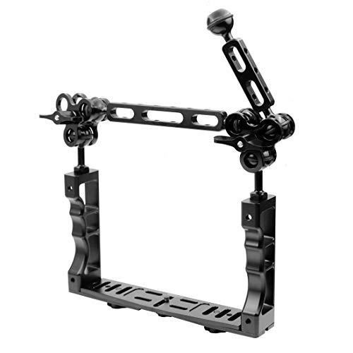TOOGOO CNC Tauchen Unterwasser Licht Arm System DREI Clip Tray Halterung Griff Stabilisator Video DSLR Cam Torch