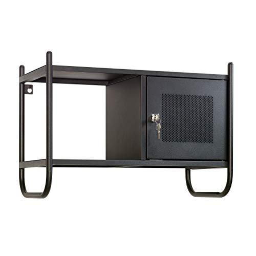Sauder Boulevard Café Metal Wall Cabinet, Black finish
