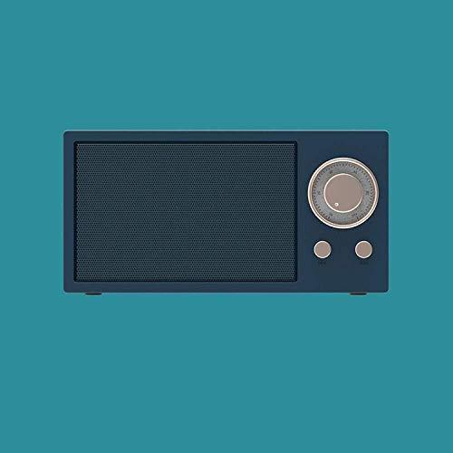 Asncnxdore. Smart-Lautsprecher-Verstärker, bewegliche drahtlose Lautsprecher, Retro Bluetooth Kleiner Lautsprecher New Mini, drahtloses intelligentes Radio White_150 45 * 75mm *, mit Alexa Stimme und