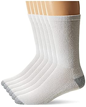 Hanes Men s FreshIQ X-Temp Comfort Cool Crew Socks 6-Pack White/Grey Shoe Size  6-12