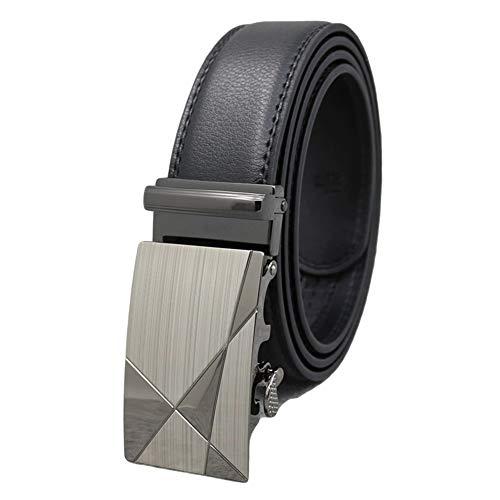 GUOCU Cinturón Cuero Hombre Cinturones Piel Con Hebilla Automática Conveniente Para Los Pantalones Vaqueros Del Traje Para Hombres Variedad De Estilos Sencillo Y Clásico Regalo