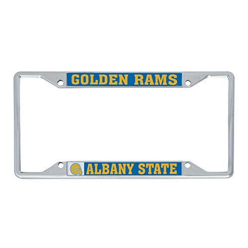 Desert Cactus Albany State University ASU Golden Rams NCAA Metal License Plate Frame for Front or Back of Car Officially Licensed (Mascot)