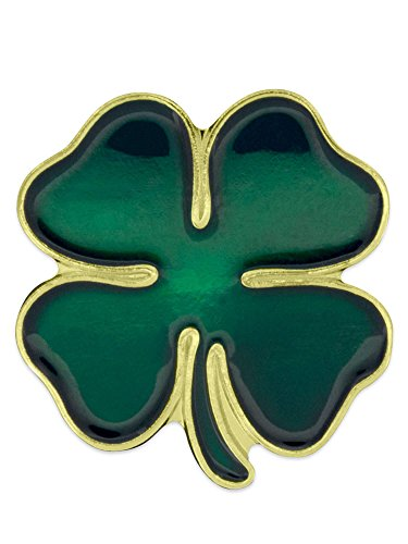 PinMart Green Four Leaf Clover Shamrock St. Patrick's Day Lapel Pin