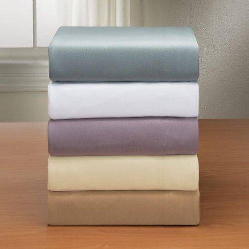 Royale Linens Soft Tees Cotton Modal Jersey Knit Sheet Set, Queen, White